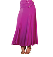 Adult Triple Button Long Ballroom Skirt