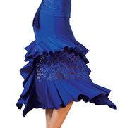 Adult Embroidered Ruffle Ballroom Skirt
