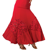 Adult Embroidered Diamond Insert Ballroom Skirt