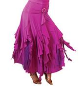 Adult Handkerchief Fringe Ballroom Skirt
