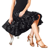 Adult Sequin Short Trumpet Ballroom Skirt