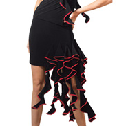 Adult Side Ruffle Ballroom Skirt