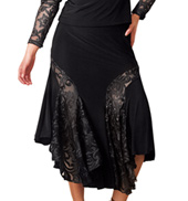 Adult Mid-Length Embroidered Insert Ballroom Skirt