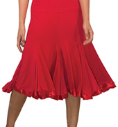 Womens 8 Panel Satin Hem Ballroom Skirt