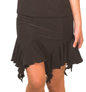 Womens Short Flounce Ballroom Skirt