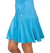 Womens Floral Detail Flounce Ballroom Skirt
