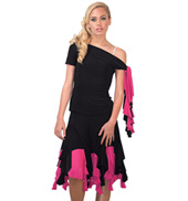 Womens Reversible Asymmetrical Ballroom Skirt