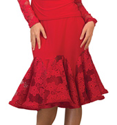 Womens Lace Godet Ballroom Skirt