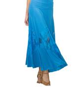 Womens Floral Lace Insert Ballroom Skirt