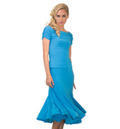 Womens Mid-Length Trumpet Ballroom Skirt