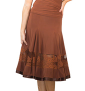 Womens 6 Panel Lace Ballroom Skirt