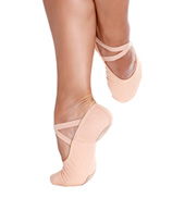 Womens Bliss Stretch Canvas Split-Sole Ballet Shoes