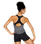 Adult Two-Tone Tank Shorty Unitard