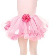 Child Rose Tutu Skirt With Petals