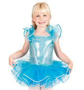 Child Flutter Sleeve Tutu Costume Dress