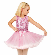 Child Pink Sequin Bodice Tank Tutu Dress