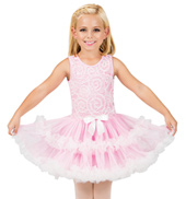 Child Pink Lace Bodice Tank Tutu Costume Dress
