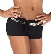 Girls Cheetah Print Shorts with Belt
