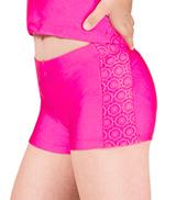Girls Crochet Lace Insert Dance Shorts