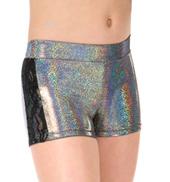 Girls Metallic Floral Lace Dance Shorts