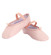 Girls Princess Full Sole Leather Ballet Slippers