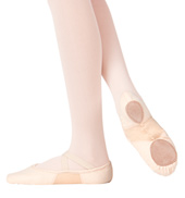 Girls SofTouch Canvas Stretch Split-Sole Ballet Slippers