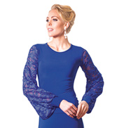 Adult Embroidered Long Sleeve Ballroom Top