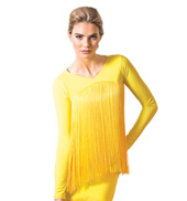 Adult Fringe Long Sleeve Ballroom Top