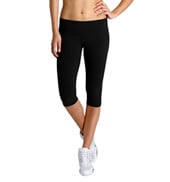 Studio Active Cotton Spandex 1/2 Length Wide Band Leggings