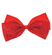 Large Sequined 8 Ribbon Bow Hair Clip
