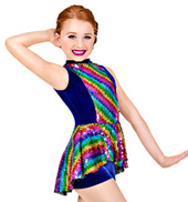 End of the Rainbow Girls Unitard Costume