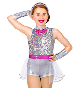 Front and Center Girls Unitard Costume