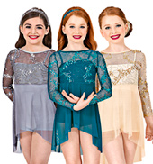 Precious Jewels Girls Long Sleeve Dress