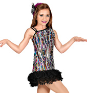 All Eyes on Me Girls Sequin Dress