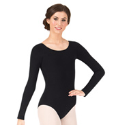 Adult Long Sleeve Cotton Dance Leotard