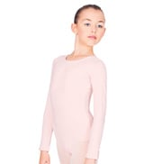 Child Long Sleeve Cotton Leotard