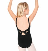 Child Twist Back Camisole Cotton Leotard