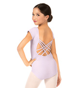 Child Short Sleeve Strappy Dance Back Leotard