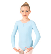 Girls Pinch Front Long Sleeve Leotard
