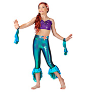 Part of Your World Girls Unitard Costume