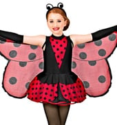 Little Ladybug Girls Peplum Dress