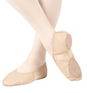 Girls Ultra Ballet Leather Neoprene Split Sole Ballet Slippers