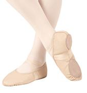 Girls Ultra Ballet Leather Neoprene Split Sole Ballet Slippers