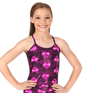 Child Fire Heart Long Camisole Top