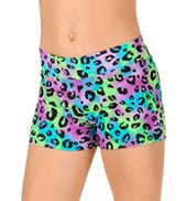 Child Multi Leopard Dance Shorts