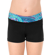 Girls Paisley Waist Shorts