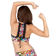 Girls Comic Strip Printed Bra Top
