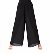 Adult Unisex Black Palazzo Worship Pants