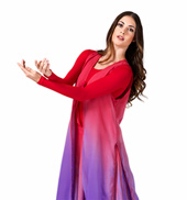 Womens Plus Size Worship Tie Front Long Tunic