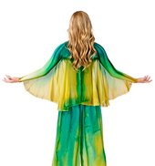 Womens Plus Size Worship Winged Shrug